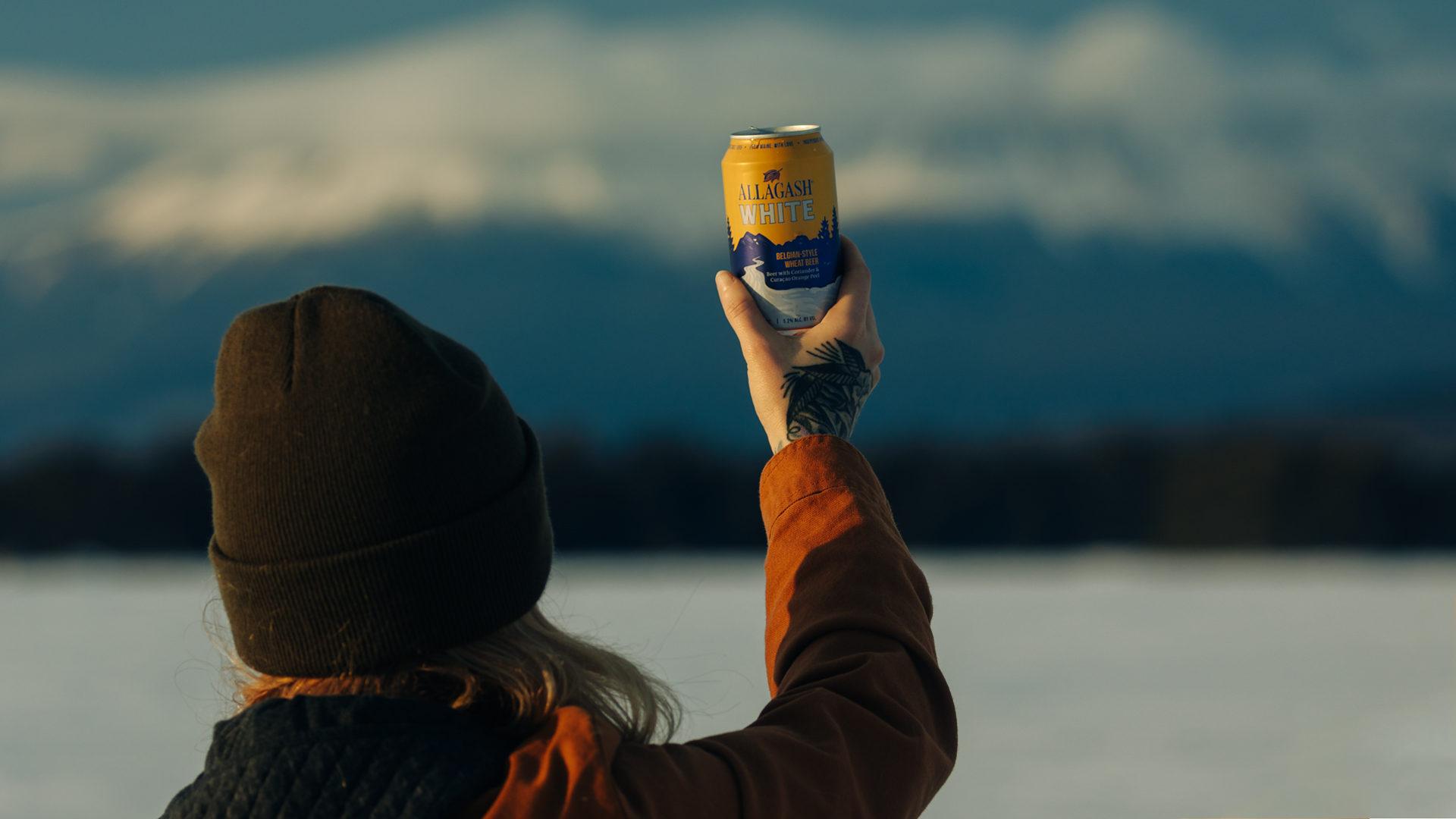 Allagash White in a can
